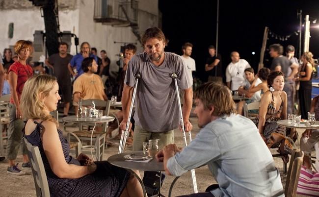 Imagen del rodaje de 'Antes del anochecer'