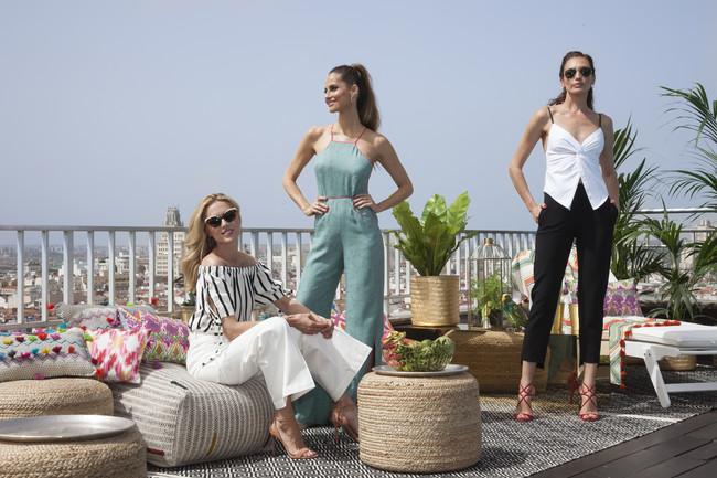 Judit Mascó, Nieves Álvarez y Ariadne Artiles lucen fabulosos looks de entretiempo en la presentación de la nueva campaña de baño para El Corte Inglés