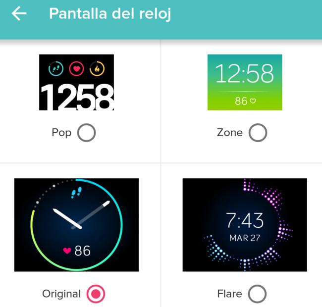 Pnatallas reloj Fitbit Blaze