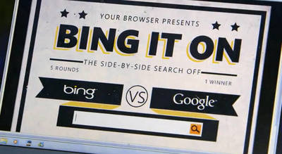 'Bing It On': Microsoft reta a Google en un duelo de buscadores