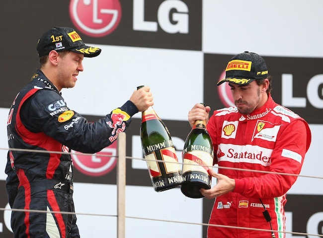 Sebastian Vettel y Fernando Alonso