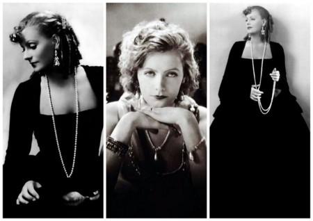 Greta Garbo collar perla
