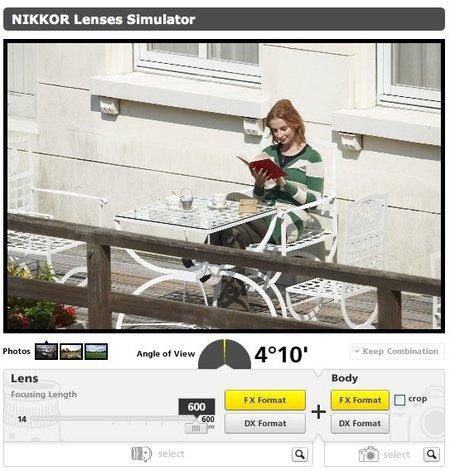 Nikkor lenses Simulator, ayudándote a elegir objetivo para tu Nikon