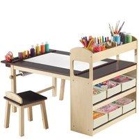 Una bonita mesa de arte para los niños
