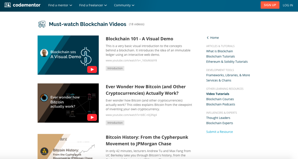 Top Blockchain Videos Blockchain Learning Center 2018 08 08 10 21 40