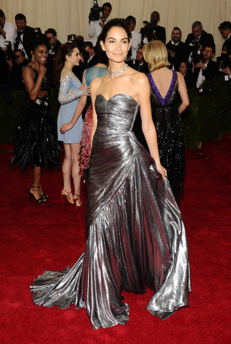 Lily Aldridge de Michael Kors Gala MET 2014