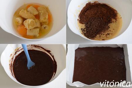 Brownie de Platano. Pasos