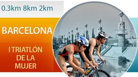 I Triatlón de la mujer en Barcelona
