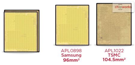 Apple utiliza chips A9 de diferente tamaño de Samsung y TSMC para sus iPhone