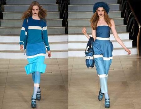 House of Holland Otoño-Invierno 2009/2010 en la Semana de la Moda de Londres, en azul
