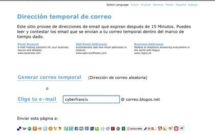Blogos, otro servicio de cuentas de correo desechables con opción de respuestas