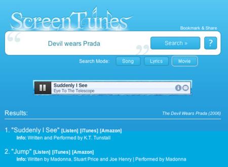 ScreenTunes: ¿sabes qué canción salía en esa película?