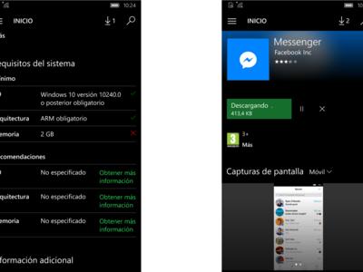 La nueva actualización de Facebook para Windows 10 Mobile te pide 2GB de RAM. Pero funciona igual