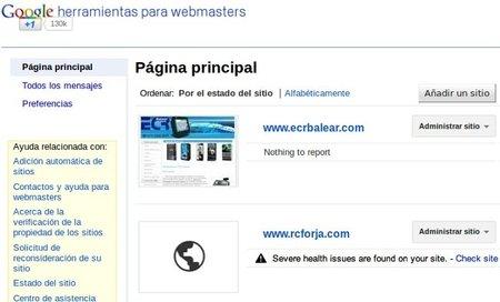 Google nos ayuda a saber si algo no funciona en nuestra web