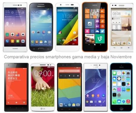 ¿Buscas smartphone de gama media o baja? Estos son los precios que encontrarás en noviembre