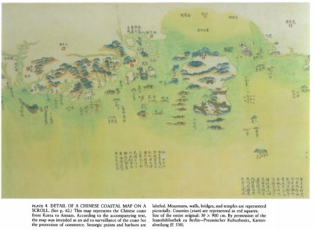 Mapa costa china