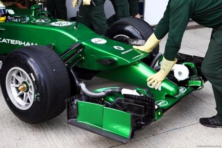 Caterham estrenará en Bélgica una nariz similar a la del Williams FW36