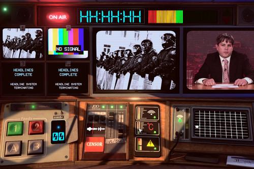 Not for Broadcast es lo que ocurre cuando mezclas dos juegos tan distintos como Papers, Please y Five Nights at Freddy's. Y el resultado es una auténtica locura