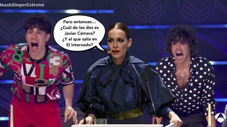 Eva González mete la 'Gamba' con los Javis durante 'Mask Singer'