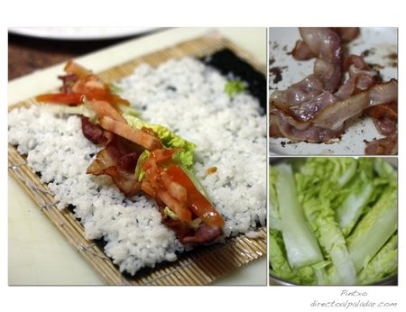 Sushi BLT. Pasos