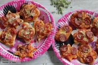 Mini Pizzas con formas divertidas para una fiesta de Carnaval