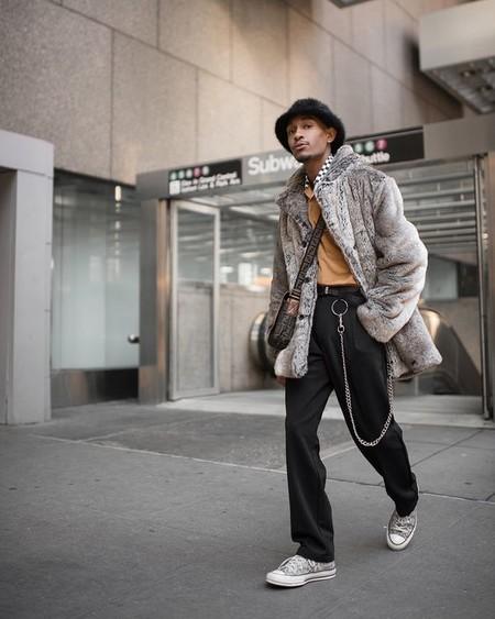 El Mejor Street Style De La Semana Trendencias Hombre Faux Fur Men Fall Winter 2019 11