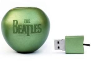La discografía de los Beatles en una manzana