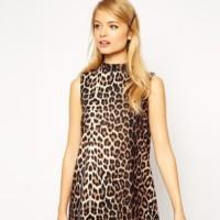 Asos Vestido Leopardo