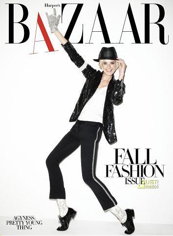 Agyness Deyn es Michael Jackson en Harper's Bazaar