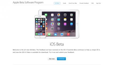 Lo prometido es deuda, iOS 8.3 se estrena por primera vez en el canal de beta pública