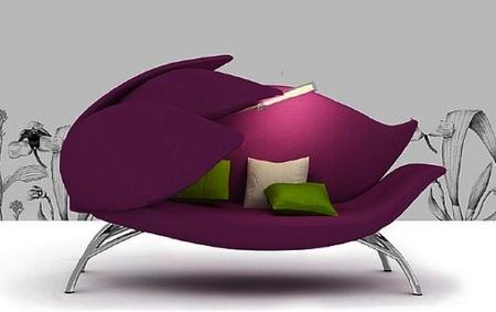 Flower sofá, sus pétalos lo hacen muy confortable