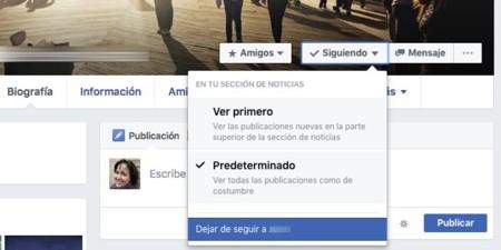 Dejar de seguir en Facebook
