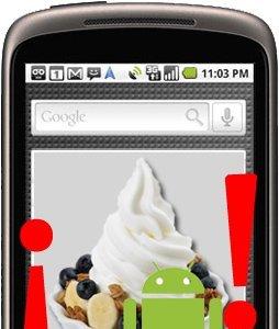 La actualización a Android 2.2 Froyo ya está llegando a los Nexus One de USA vía OTA