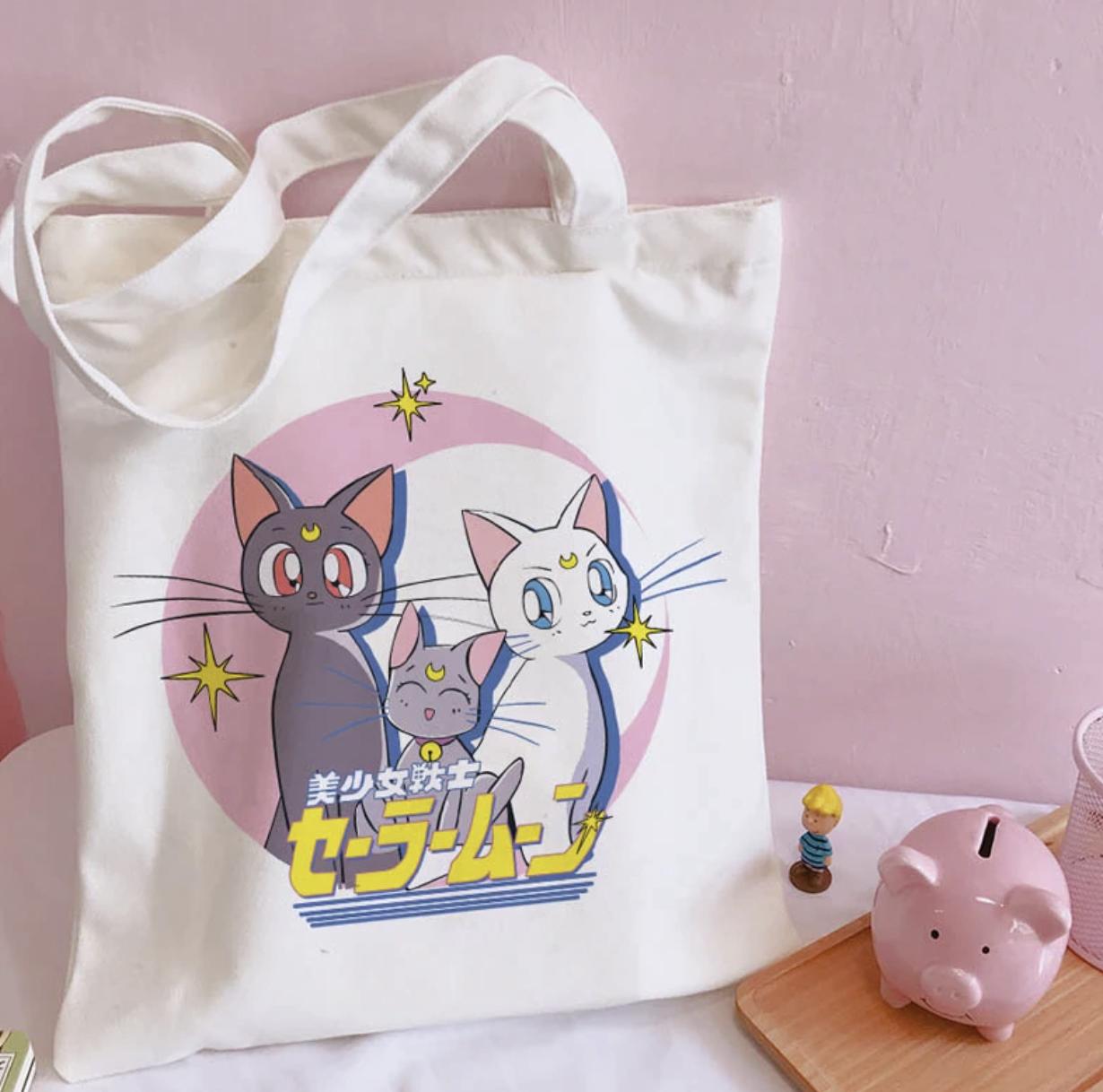 Bolsos de lona con estampado de Sailor Moon
