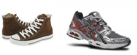 zapatos house assic nimbus y chucks marrones