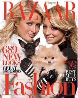 Paris Hilton y Nicole Richie en Harper's Bazaar