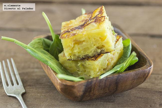 Tortilla de patata con mermelada de cebolla