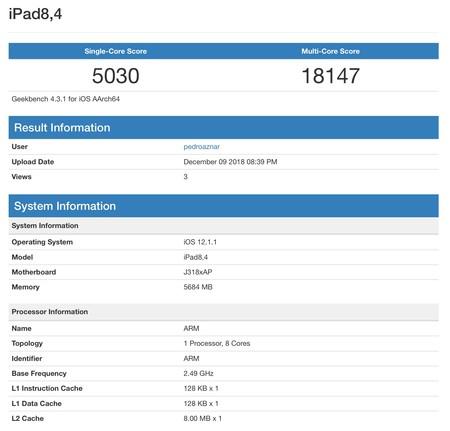 Benchmark 1 Ipad Pro