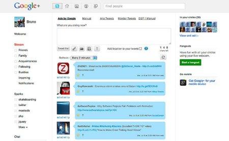 Twitter ya es amigo de Google+