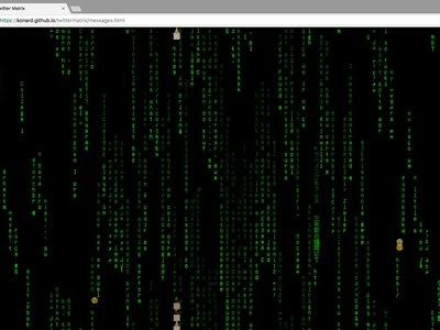 Mira los mensajes de Twitter en tiempo real como si estuviesen en Matrix