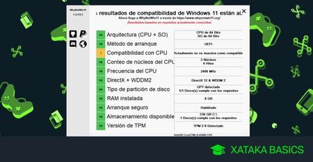 Cómo saber detalladamente por qué Windows 11 no es compatible con tu PC y qué especificaciones no cumples