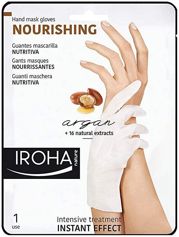 Guantes Mascarilla Nutritiva aceite de Argán manos y uñas Roha