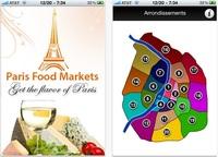 Aplicaciones viajeras: Mapa de los mercados de París
