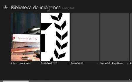 Vista general biblioteca de imágenes