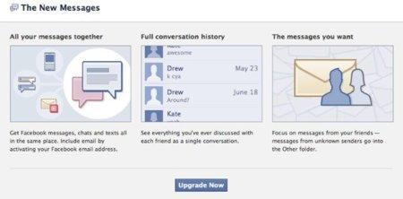 Facebook empieza a activar sus nuevos mensajes personales a todos los usuarios
