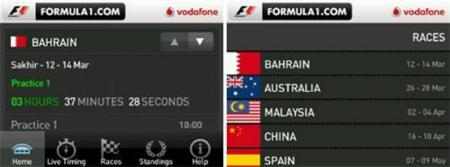 Official Formula1.com Live Timing App, sigue la F1 desde tu BlackBerry