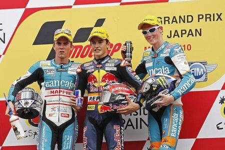 Marc, Nico y Bradley en el podio