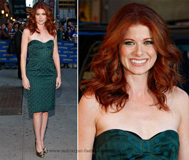 Debra Messing en el show de David Letterman
