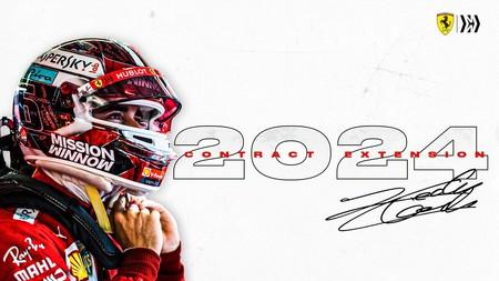 Leclerc Ferrari F1 2024