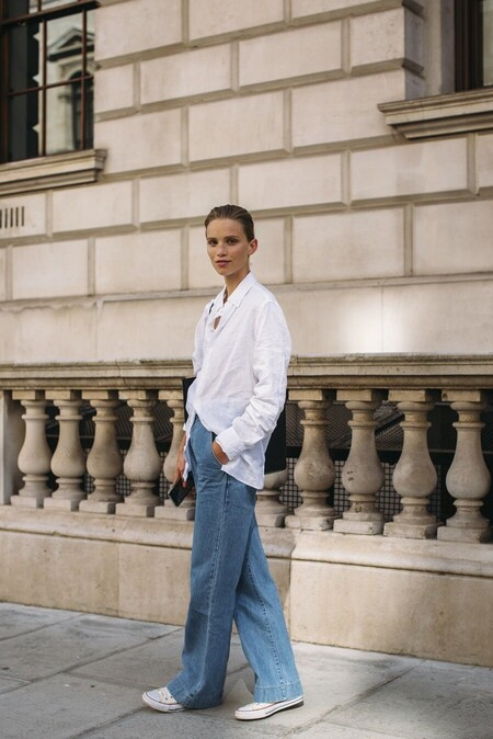 Camisa básica de mujer con manga larga